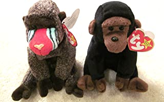 Set of Two Ty Beanie Babies - Congo and Cheeks by Ty