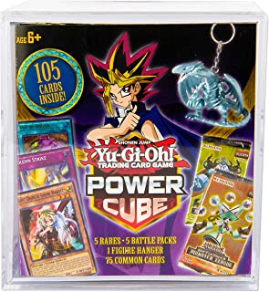 Yu-Gi-Oh! Cards Power Cube - 5 Rares + 5 Battle Decks + A Figure Hanger + Factory Sealed Pack + 75 Common Cards