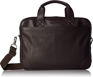 Ben Sherman Full-Grain Karino Leather 15 Laptop & Tablet Top Zip Business Case Bag Laptop Briefcase