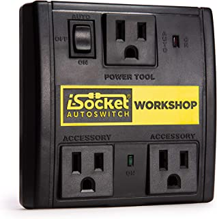 i-Socket Workshop Automated Vacuum Switch - Power Tool Activated Sensor and Automatic Shutoff - Workshop Safety Device - For Contractors and Woodworkers