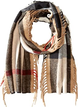 Burberry Kids - The Fringe Giant Exploded Check Scarf (Little Kids/Big Kids)
