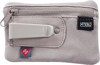 Lewis N. Clark RFID-Blocking Hidden Clip Stash Travel Belt Wallet, Brown, One Size