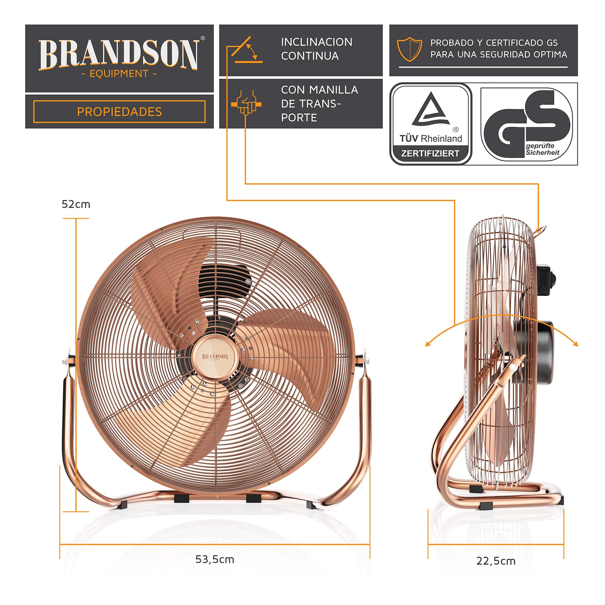 Brandson - Ventilador de Mesa 50 cm - máquina de Viento: Amazon.es ...