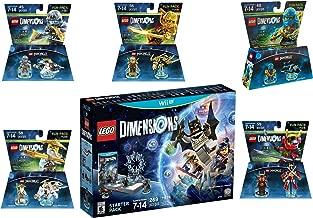 Lego Dimensions Ninjago Starter Pack + Jay + LLoyd + Nya + Zane + Sensei Wu Fun Packs for Nintendo Wii U Console