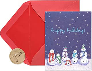 Papyrus Holiday Cards Boxed, Cheery Snowmen (20-Count)