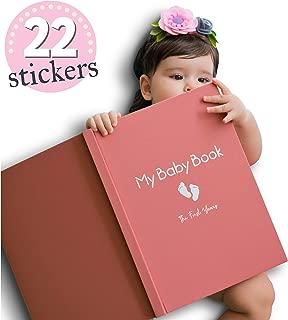 Baby Memory Book for Girls Modern Journal Keepsake Scrapbook for First 5 Years