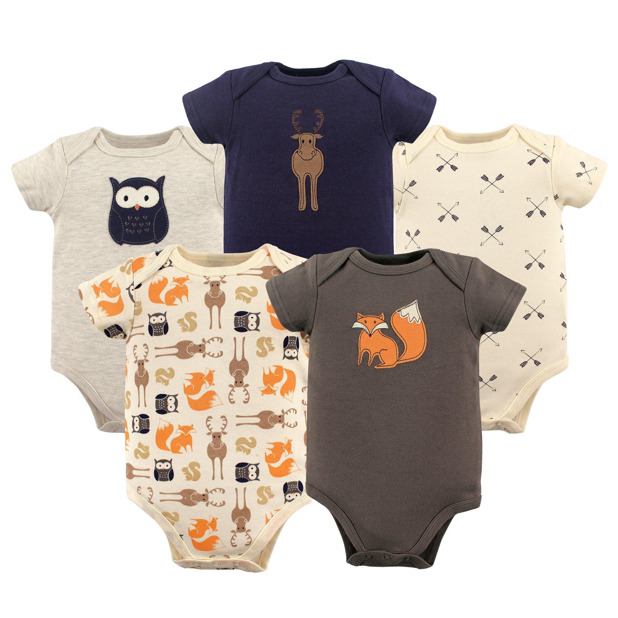 Hudson Baby Bodysuits Woodland Creatures