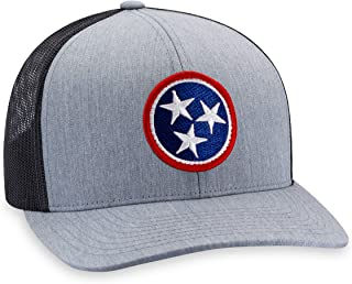 Tennessee Hat – TN Flag Trucker Hat Baseball Cap Snapback Golf Hat (Grey)