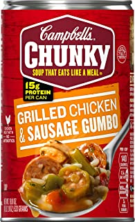 Campbell's Chunky Grilled Chicken & Sausage Gumbo, 18.8 oz. Can (Pack of 12)