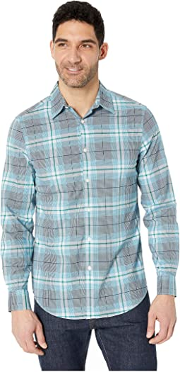 Multi Plaid Resist Spill Stretch Shirt