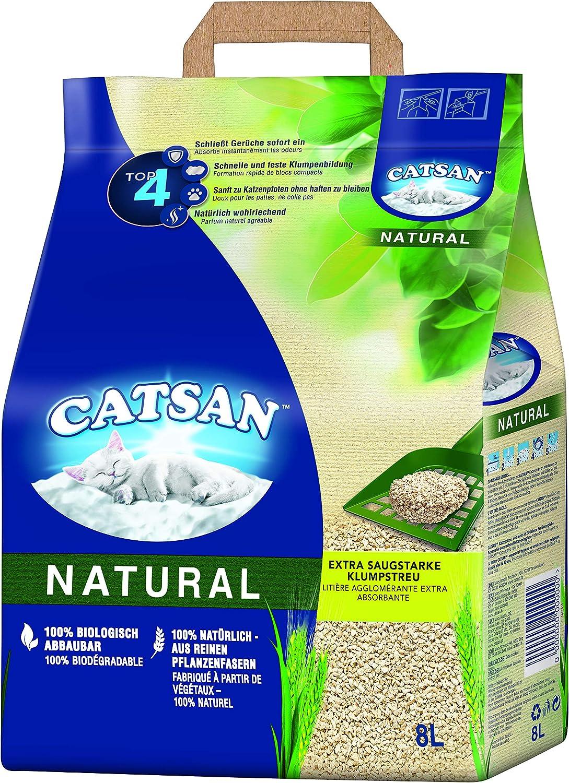 Catsan Natural - Arena para Gatos Biodegradable. Neutralización eficaz del Olor y la Humedad