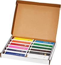 Prang Thick Core Colored Pencils Master Pack, 3.3 Millimeter Cores, 7 Inch Length, 12 Assorted Colors, 288 Count (82408)