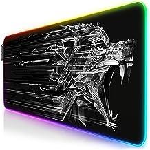 TITANWOLF - RGB Tapis de Souris Gaming XXL - LED Lumineuse Tapis de Souris Multicolore 11 Modes - 800 x 300mm - Surface antiderapant pour Les Joueurs de l'Ordinateur PC et du Mac - Noir