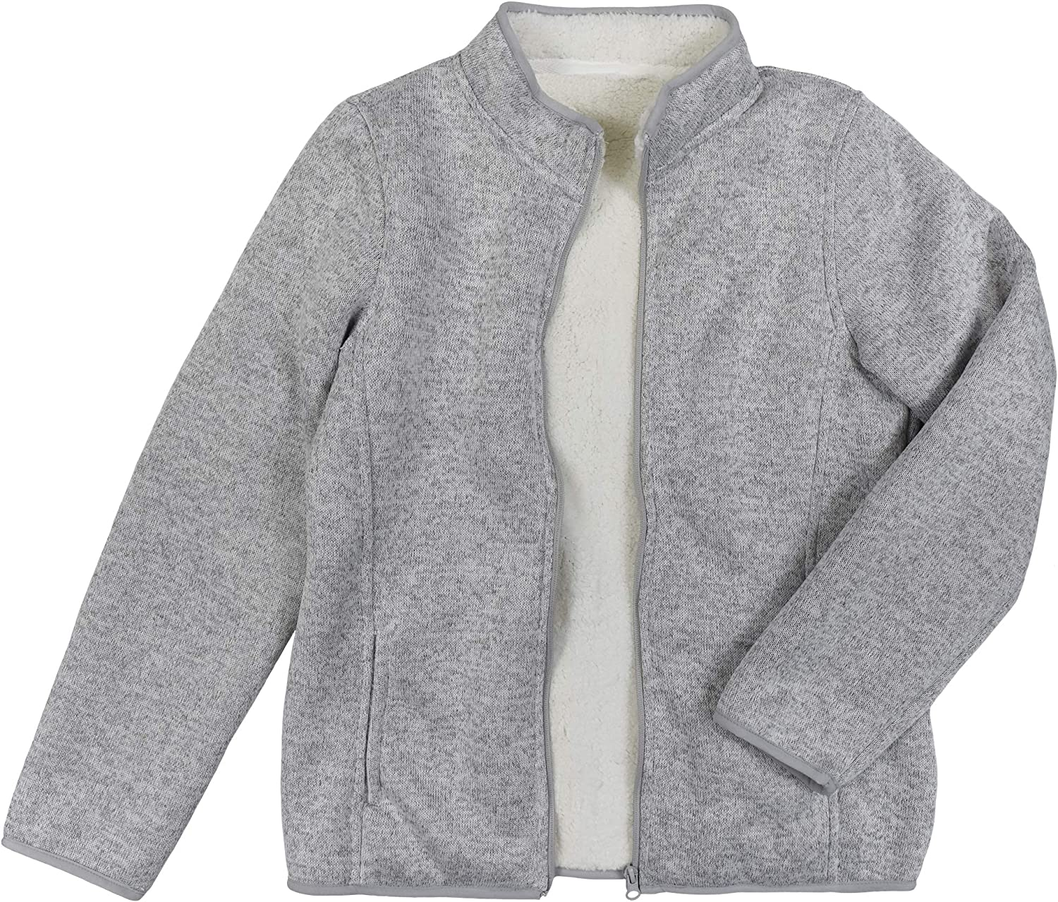 Victory Outfitters Ladies' Bonded Knit Sherpa Lined Zip Up Jacket