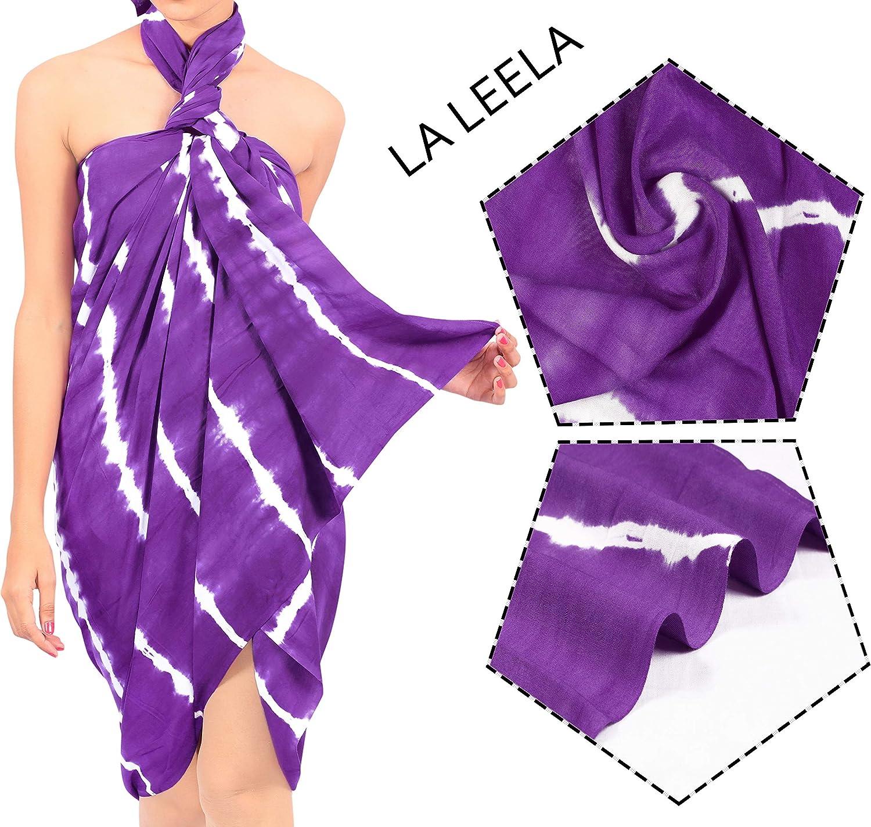 LA LEELA Couverture de Maillot de Bain de Femmes en Maillot de Bain Sarong Camouflage Jupe Wrap 78X39