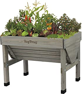 VegTrug VTGWS 0391 USA 1m Raised Planter Gray Wash