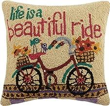 Peking Handicraft Life is a Beautiful Ride Hook Pillow, Multicolored