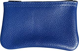 MJL Genuine Napa BLUE Leather coin purse. Buttery soft. Made in USA.