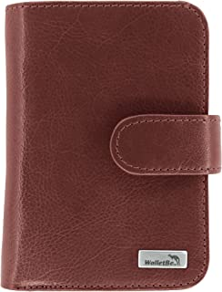 Women's Leather Billfold Accordion RFID Wallet with Coin Purse