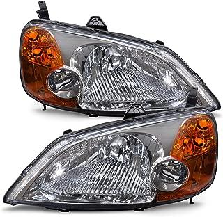 HEADLIGHTSDEPOT Compatible with Honda Civic Sedan/Hybrid Model Headlights Headlamps Driver/Passenger Pair New