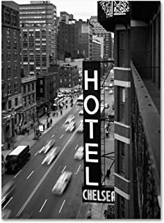 Chelsea Black and White  by Chris Bliss, 24 by 32-Inch Canvas Wall Art