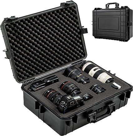 TecTake 402412 Valise pour Appareil photo avec Volume 35 Litres, 4 Inserts mousse protection