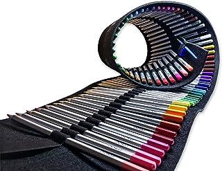 OOKU Artist Pro Watercolor Pencils Set 72 Colors / 75 Pc Full Kit   Wet Water Color..
