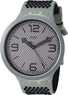 Swatch Mens Analogue Quartz Watch with Silicone Strap SO27M100