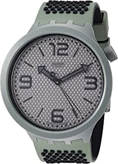 Swatch 1905 Big Bold Quartz Silicone Strap, Grey, 24 Casual Watch (Model: SO27M100)