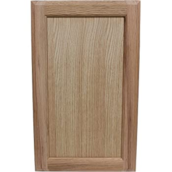 Unfinished Oak Square Flat Panel Cabinet Door By Kendor 22h X 13w Amazon Com