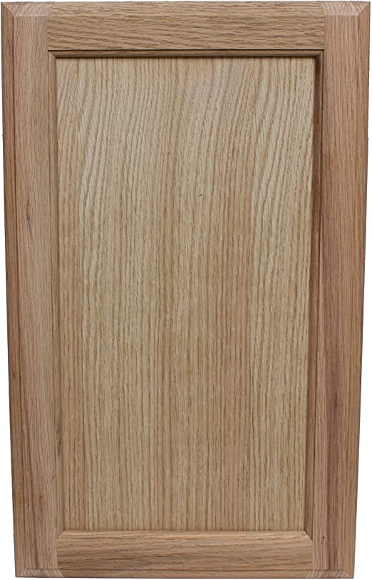 Unfinished Oak Cabinet Door Square with Raised Panel by Kendor 20H x 10W