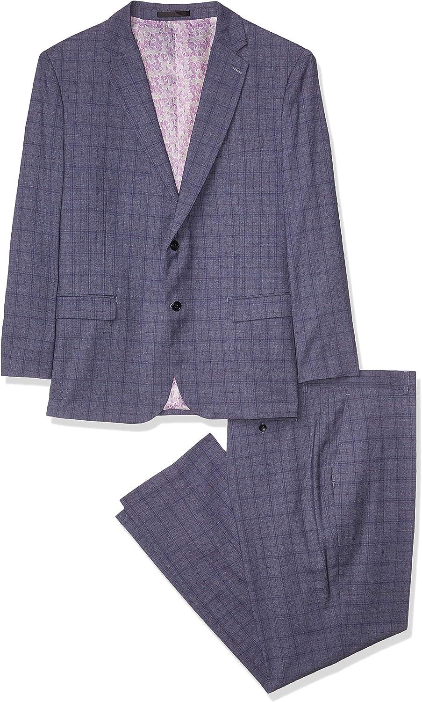 Kitonet Men's Slim Fit Check Suit
