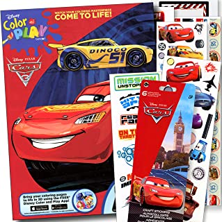 Disney Cars Coloring Book with Disney Cars Stickers - Lightening McQueen