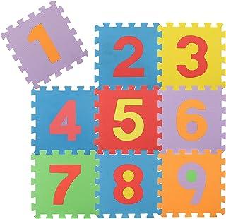 com-four® Puzzle de Sol 9 pièces, Tapis de Puzzle Souples avec Les Chiffres de 1 à 9, idéal pour Les Enfants à partir de 2...