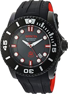 Men's Pro Diver Stainless Steel Automatic-self-Wind Diving Watch with Silicone Strap, Black, 25 (Model: 20205)