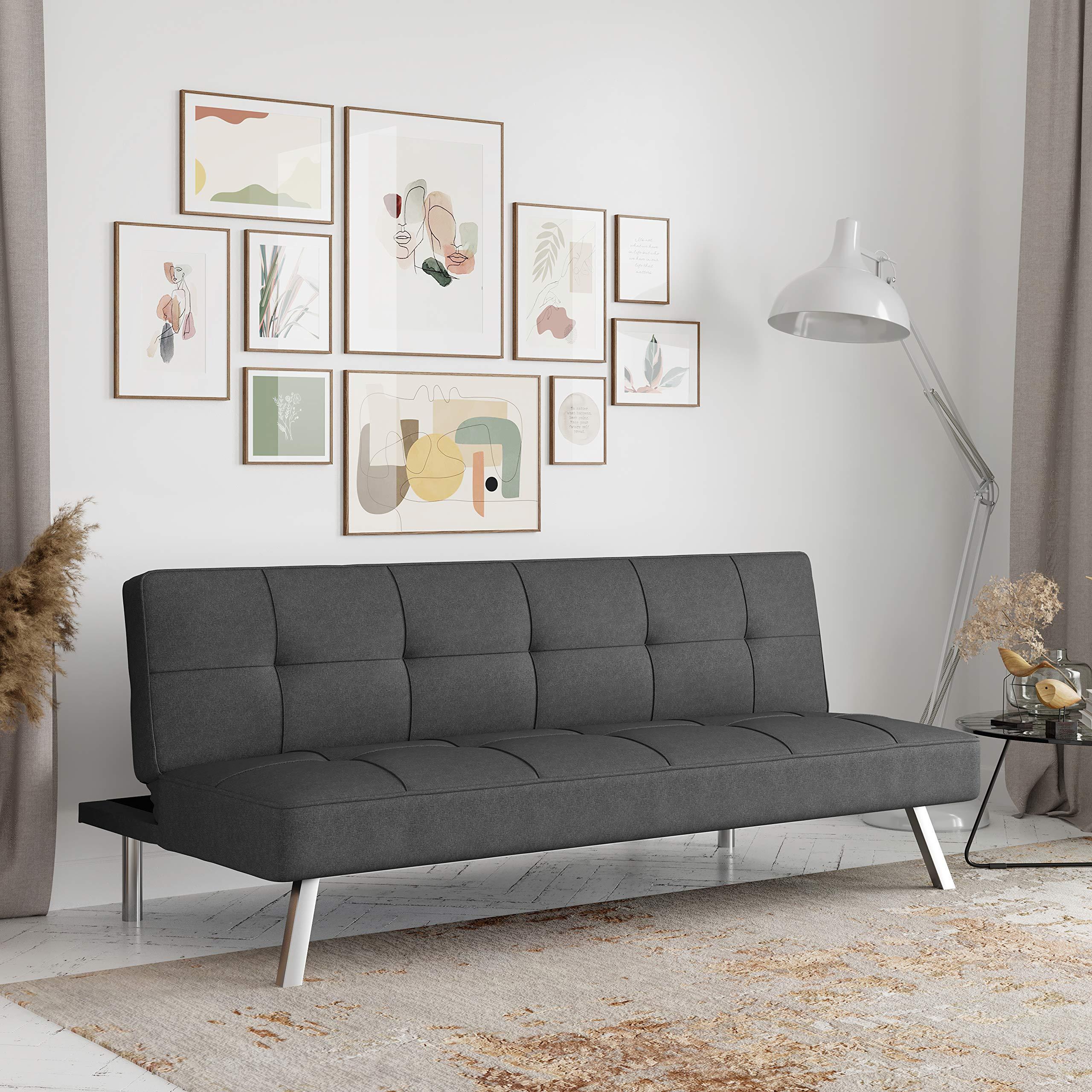 Serta RNE-3S-CC-SET Rane Collection Convertible Sofa, Charcoal