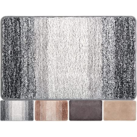 """Indoor Doormat Front Door Mat Non Slip Rubber Backing Absorbent Mud and Snow Magic Inside Dirts Trapper Mats Entrance Rug Machine Washable (20""""x31.5"""", Grey Snowflakes)"""