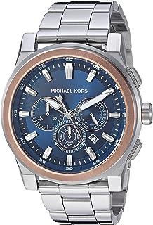 MICHAEL KORS Men's MK8598 Year-Round Chronograph Quartz Silver Band Watch