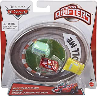 Disney Pixar Cars Micro Drifters Race Team Fillmore, Ramone and Cruisin' Lightning McQueen, 3-Pack