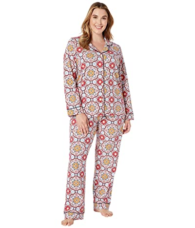BedHead Pajamas Plus Size Long Sleeve Classic Notch Collar PJ Set (Dynasty) Women