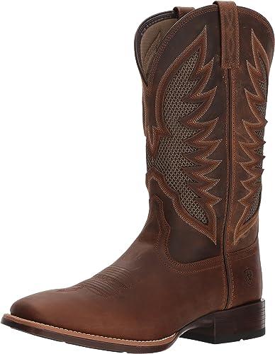 Ariat - Chaussures Venttek Ultra Western Western Western Western pour Hommes, 41 W EU, Distressed marron 36a