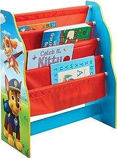 La Pat' Patrouille - Bibliothèque à pochettes pour enfants - Rangement de livres pour chambre d'enfant