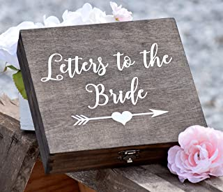 DW Letters to the Bride Box - Bridal Box - Gifts for the Bride - Anniversary Box - Love Letter Box - Keepsake Box - Grooms Gift - Engraved Box