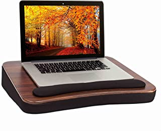 Sofia + Sam All Purpose Lap Desk (Wood top) with Memory Foam – Portable Laptop Book Stand – Bed Chair Couch Lap – Food Tray – Wrist Rest – Comfortable – Kids or Adults - Supports Laptops Up To 17 Inch
