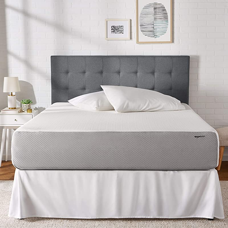 AmazonBasics Memory Foam Mattress Soft Bed Plush Feel CertiPUR US Certified 12 Inch King Size
