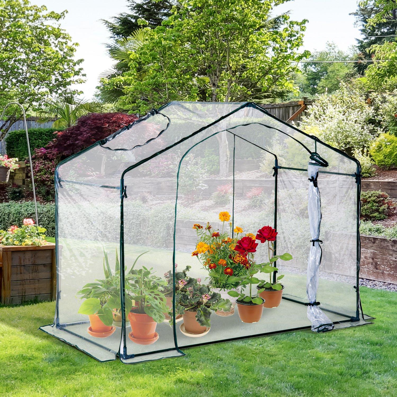 Outsunny - Invernadero de jardín de PVC transparente, 180 x 105 x 165 cm: Amazon.es: Jardín