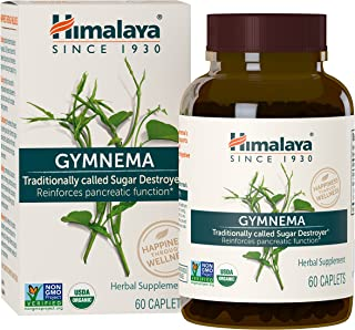 Himalaya Organic Gymnema Sylvestre for Blood Sugar Support and Metabolism, 700 mg, 60 Caplets, 1 Month Supply