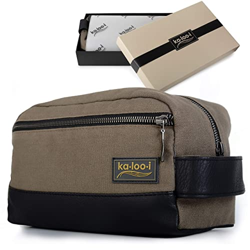 Toiletry Bag for Men - Canvas Dopp Kit for Travel d50407e43c449