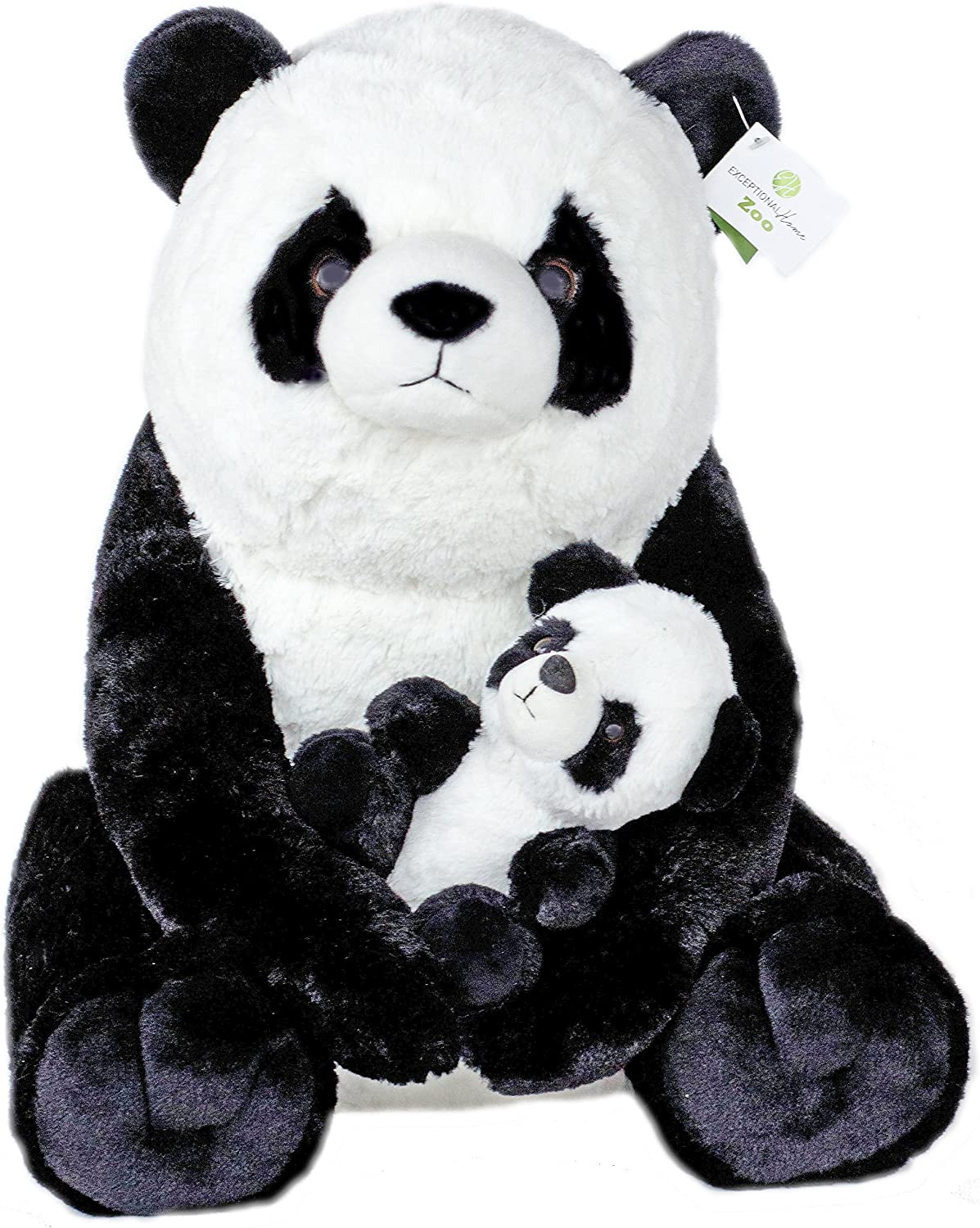 Exceptional Home Giant Pandas Plush Stuffed Animals  18  Teddy Bear with Baby Panda  Kids Toys  Gift