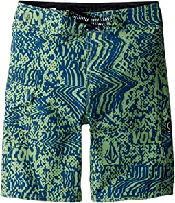 Volcom Kids Logo Plasm Mod Boardshorts (Toddler/Little Kids)
